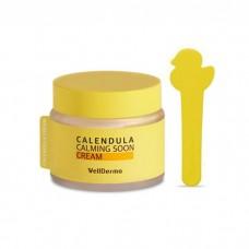 Крем для лица с экстрактом календулы Wellderma Calendula Calming Soon Cream 80 мл.
