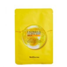 Тканевая маска с экстрактом календулы WellDerma Calendula Calming Soon Mask 30 мл.