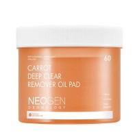 Гидрофильные пэды для снятия макияжа Neogen Dermalogy Carrot Deep Clear Remover Oil Pad 60 шт.