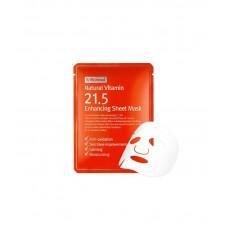 Тканевая маска с витамином С By Wishtrend Natural Vitamin 21,5% Enchancing Sheet Mask 23 мл.