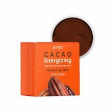 Гидрогелевые патчи для глаз с экстрактом какао Petitfee Cacao Energizing Hydrogel Eye Patch 60 шт.