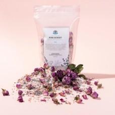 Шиммер для ванной с цветками лаванды и чайной розы «PINK SUNSET» 400 гр.