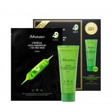 Набор для лица с центеллой 11 тканевых масок и эссенция для лица JMsolution Centella Aloe Mask and Soothing Essence special set