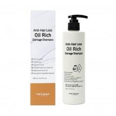 Питательный шампунь для поврежденных волос Trimay Anti-Hair Loss Oil Rich Damage Shampoo 300 мл.