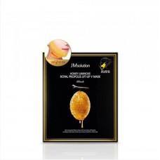 Маска для подтяжки контура лица JMSOLUTION Honey Luminous Royal Propolis Lift-Up V Mask Black 30 мл.