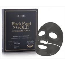 Гидрогелевая маска Petitfee Black Pearl&Gold Hydrogel Mask Pack 32 гр.